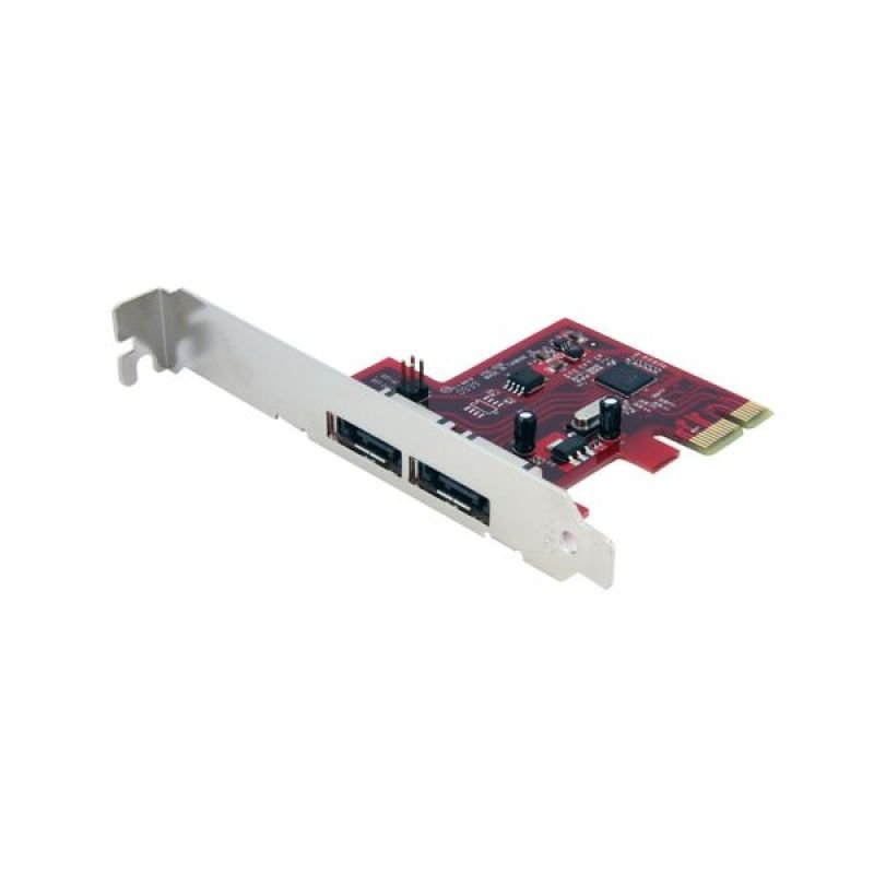 StarTech.com 2 Port SATA 6 Gbps PCI Express eSATA Controller Card - SATA 6Gb Controller - PCIe eSATA - SATA III Controller