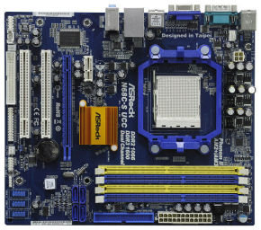 EXDISPLAY Asrock N68C-S UCC GeForce 7025 Socket AM2+ VGA Out 6 Channel Audio mATX Motherboard(BARE BOARD ONLY)