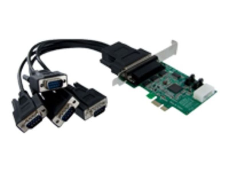 StarTech.com 4 Port Native PCI Express RS232 Serial Adapter Card with 16950 UART - PCIe RS232 Serial Card