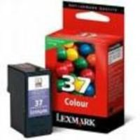 Lexmark Cartridge No. 37 - Print cartridge - 1 x colour (cyan, magenta, yellow) - 150 pages - LRP