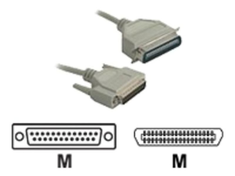 Image of C2G, DB25 Male to C36 Male Parallel Printer Cable, 2m