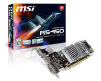 MSI HD 5450 1GB 64bit DDR3 VGA DVI HDMI PCI-E Low Profile Graphics Card