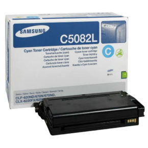 Samsung CLT-C5082L Cyan Toner Cartridge - 4,000 Pages
