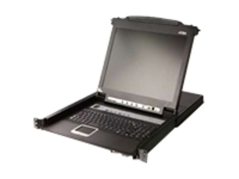 Image of Aten 17 Inch Tft Rack Console Including 8 Port Ps2/usb 1u