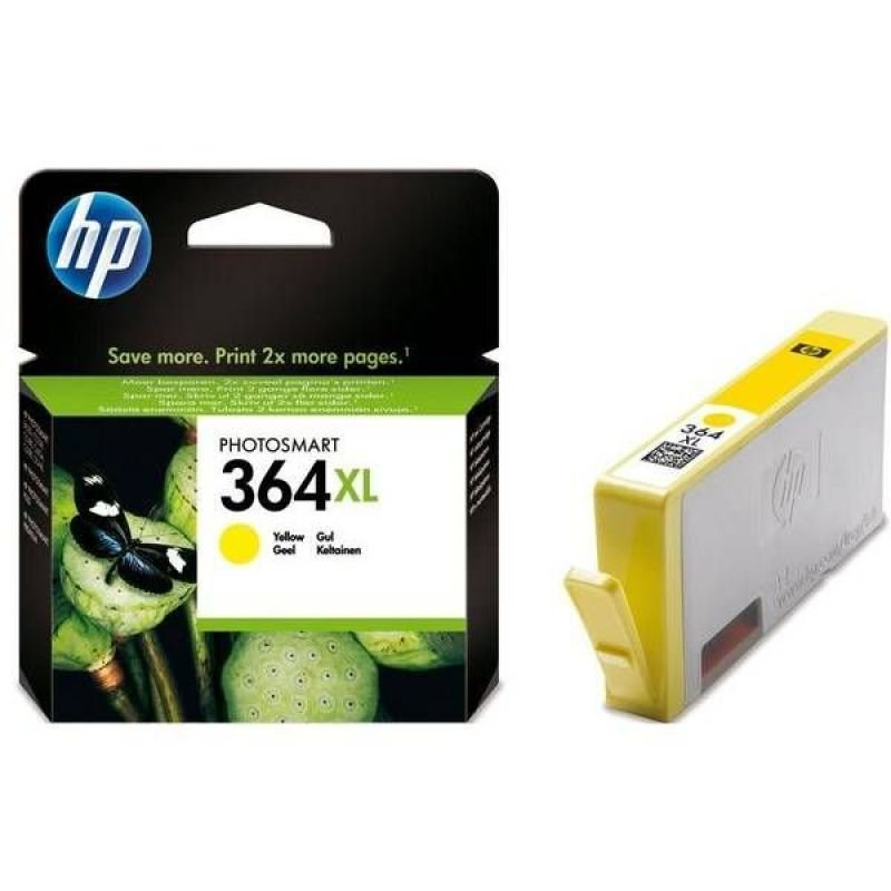 HP 364XL High Yield Yellow Original Ink Cartridge  CB325EE