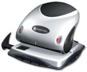 Rexel Precision 2 Hole Punch Black and Silver