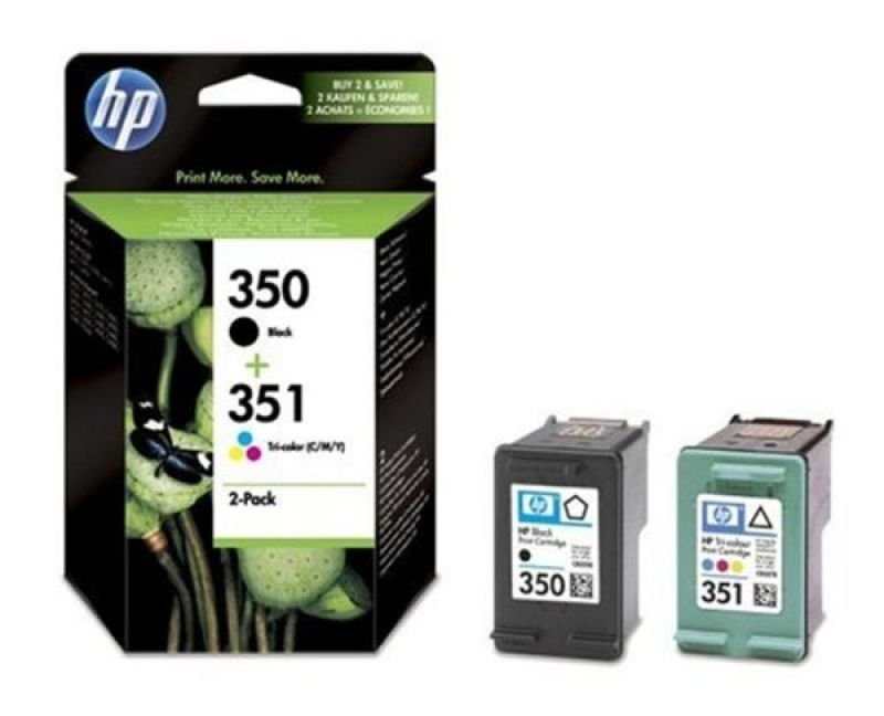 HP 350/351 Black and Colour Ink Cartridge Combo Pack - SD412EE