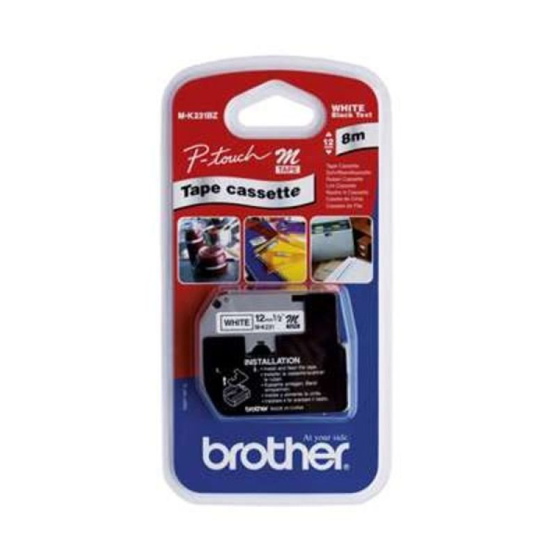 Image of Brother M K231BZ Printer tape - Black on white