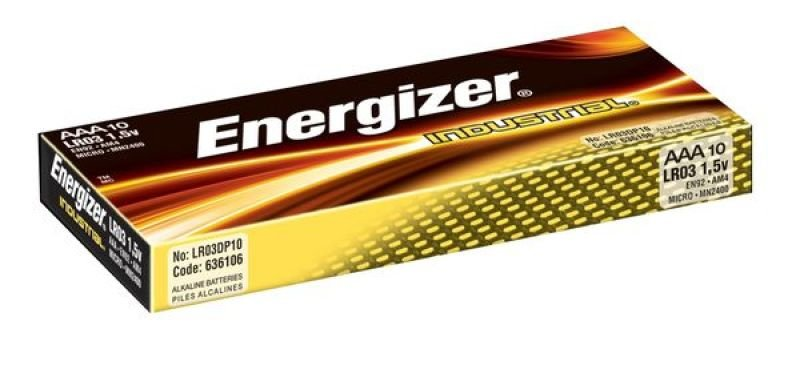 Energizer Industrial AAA Alkaline Batteries - 10 Pack