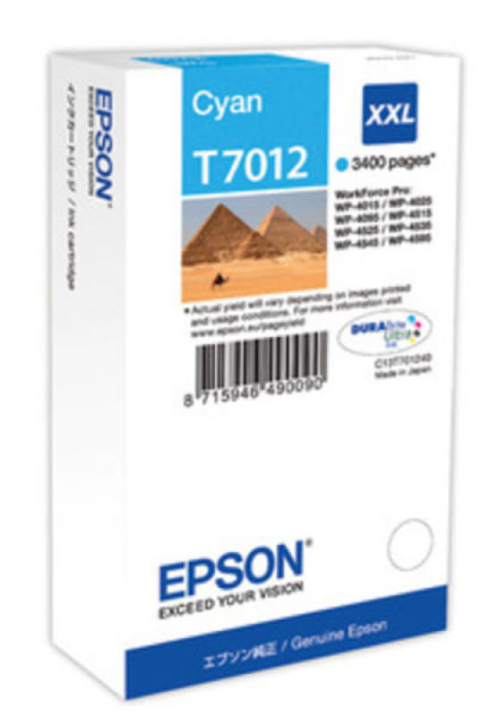 *Epson T7012 Ink Cartridge XXL Cyan
