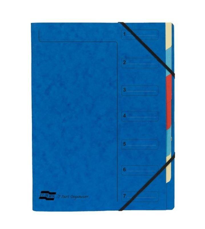 Image of Exacompta 7 Part Organiser Blue