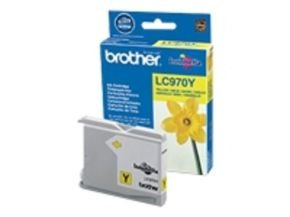 Brother LC970Y Yellow Ink Cartridge - 300 Pages