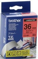 Brother TZe 461 Laminated tape- Black on Red