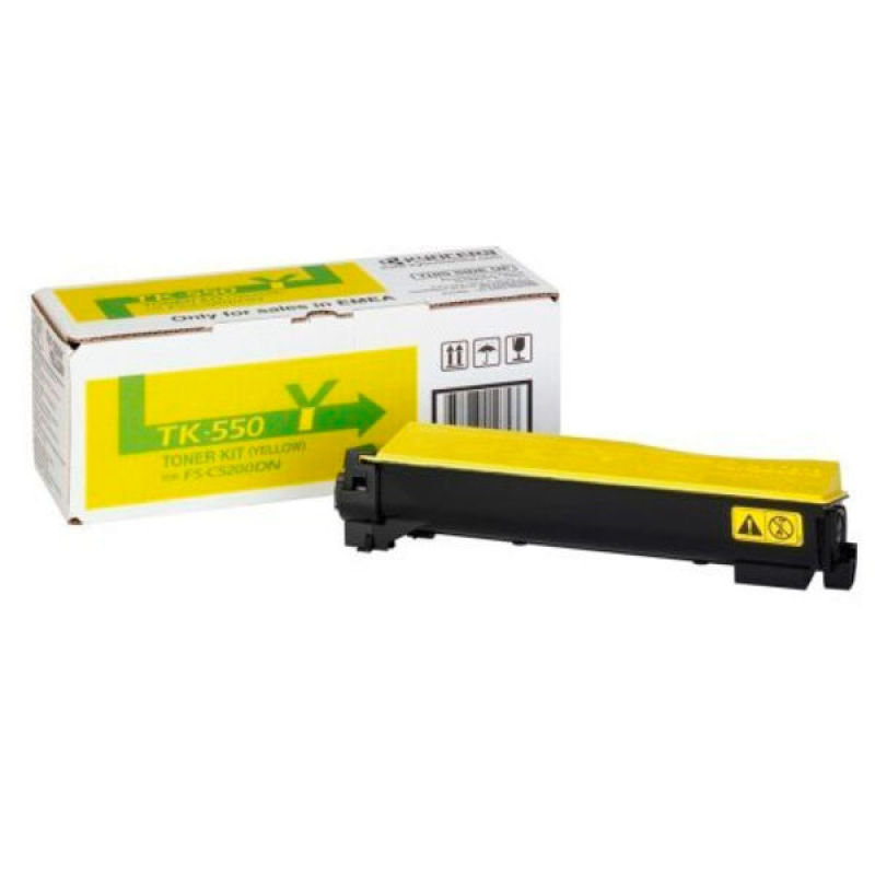 Kyocera TK 550Y Yellow Toner Cartridge