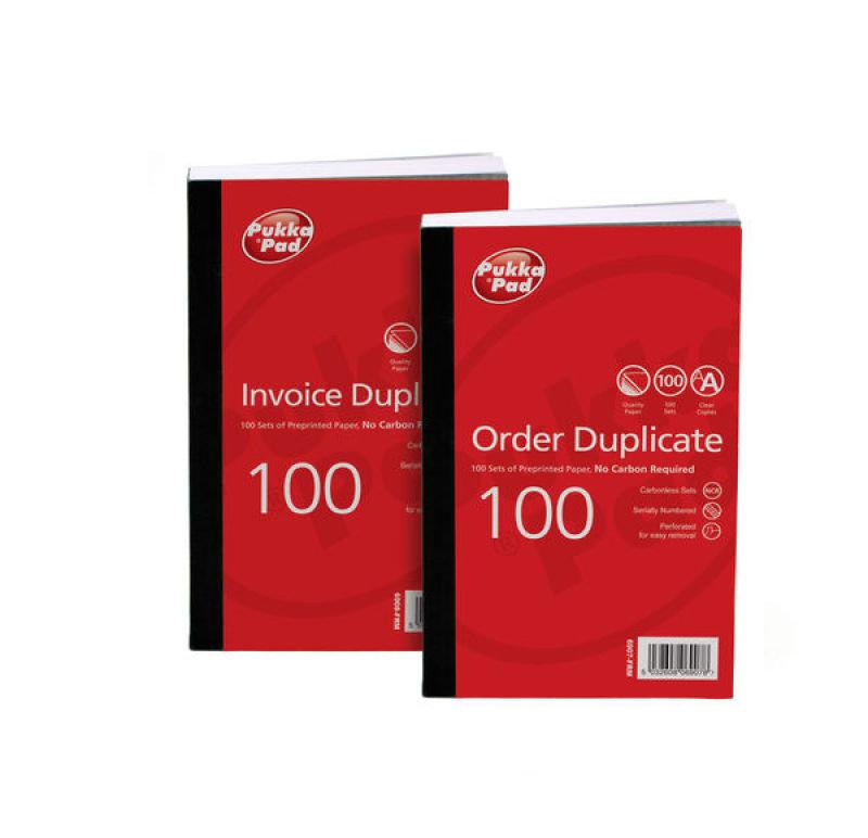 Pukka Pads Pre-Printed Order Duplicate Book - 5 Pk