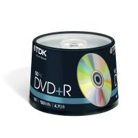 TDK 16x 4.7GB DVD+R - 50 Pack Spindle