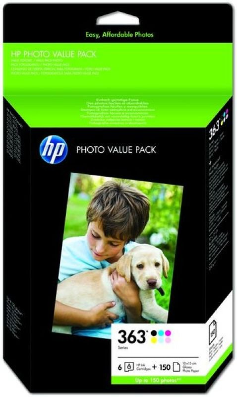 HP 363 Series Photo Value Pack Ink Cartridge and Paper Kit  Q7966EE