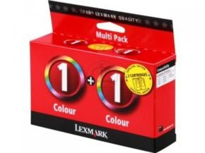 Lexmark Twin-Pack No 1 colour Ink Cartridgex 2