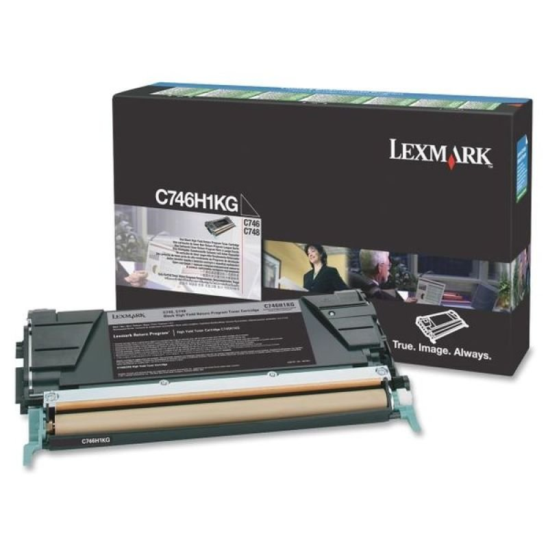 Lexmark C746H1KG High Yield Black Toner Cartridge