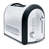 Morphy Richards 44341 Meno 900W 2 Slice Brushed Toaster