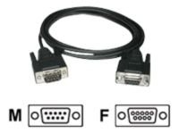 C2G, DB9 M/F Extension Cable Black, 1m