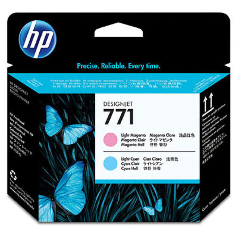 HP 771 Light Magenta & Light Cyan OriginalDesignJet Printhead For use with - Z6200 1067mm/1524mm,  Z6800 1524mm - CE019A