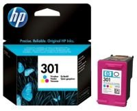 HP 301 Tri-Colour Original Ink Cartridge - Standard Yield 190 Pages - CH562EE