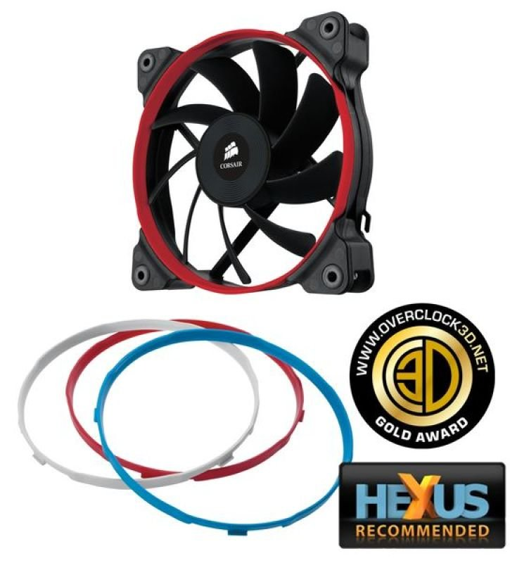Corsair AF120 120mm Low Noise High Airflow Fan for Case Cooling 3 pin Single Pack