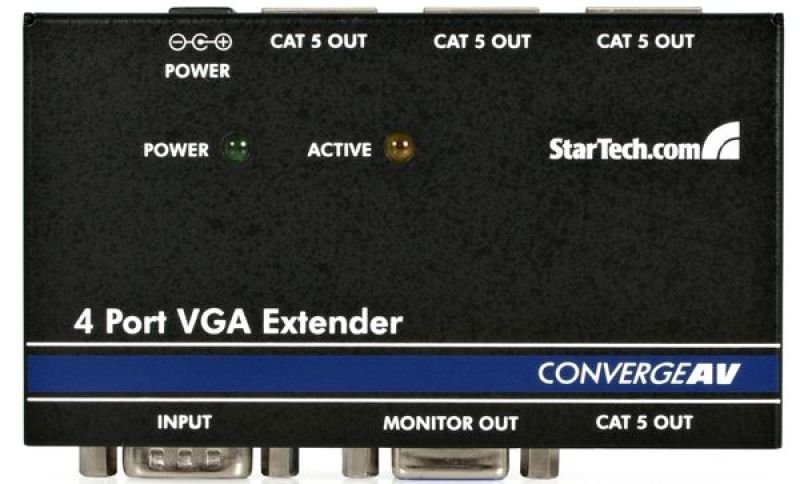 StarTech.com 4 Port VGA Video Extender over Cat 5