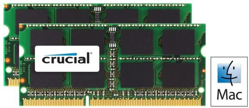 Crucial 4GB kit (2GBx2) DDR3 1333 MTs (PC310600) CL9 SODIMM 204pin 1.35V  1.5V for Mac