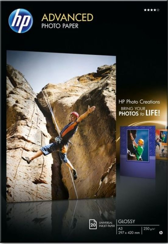 HP Advanced Glossy A3 Photo Paper - 20 Sheets