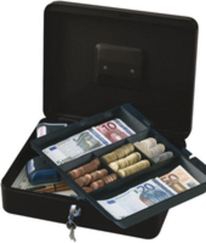 Q Connect 12 Inch Cash Box - Black