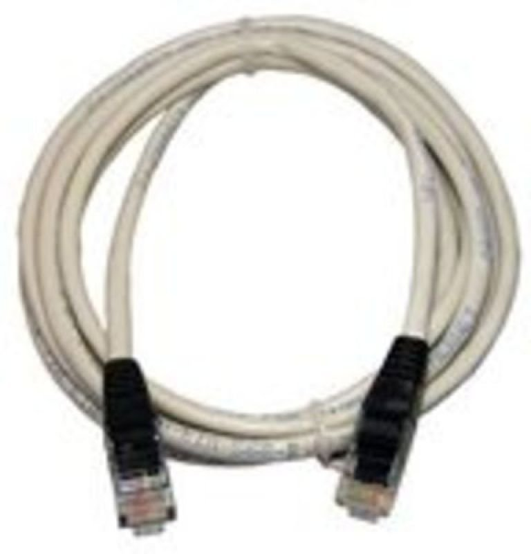 Newlink CAT 6 UTP Injection Moulded X/O Cable (Grey + Black Boots) 1m