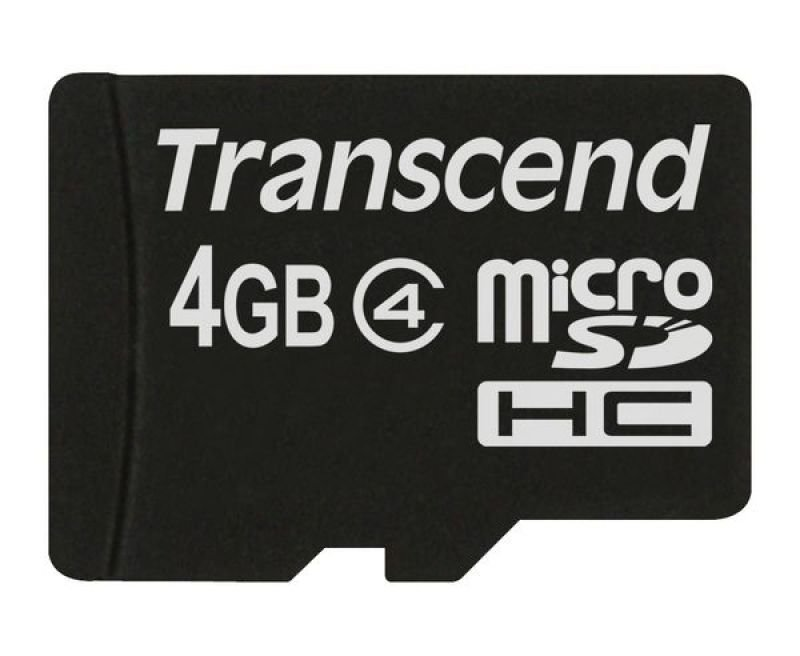 Transcend 4GB Micro SD Memory Card