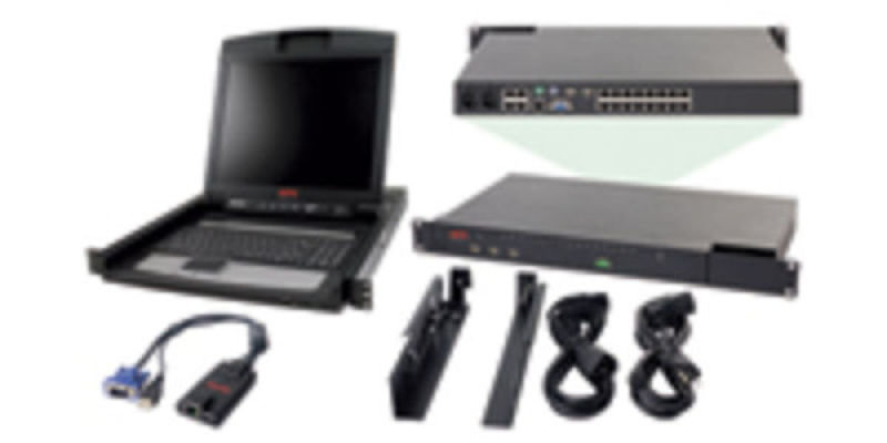 APC 2X1X16 IP KVM with APC 17 INCH Rack LCD and USB VM Server Module Bundle