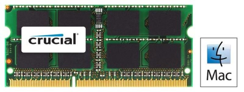 Crucial CT4G3S1339MCEU 4GB DDR3 1333 MTs (PC310600) CL9 SODIMM 204pin 1.35V1.5V for Mac