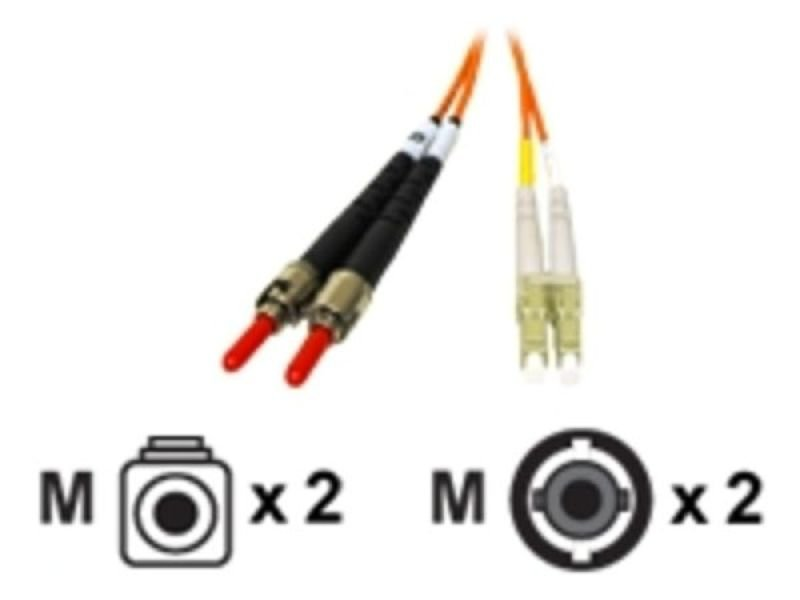 C2G, LC/ST LSZH Duplex 62.5/125 Multimode Fibre Patch Cable, 2m