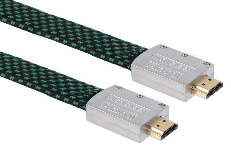 Xenta 5M Flat  Braided HDMI 4k Cable with metal end connectors