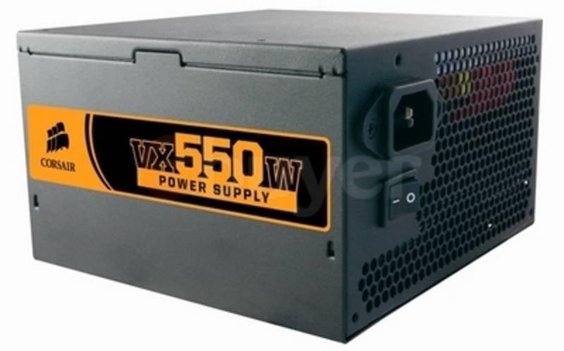 Corsair 550W VX Series PSU - 120mm Fan, 5 Year Warranty