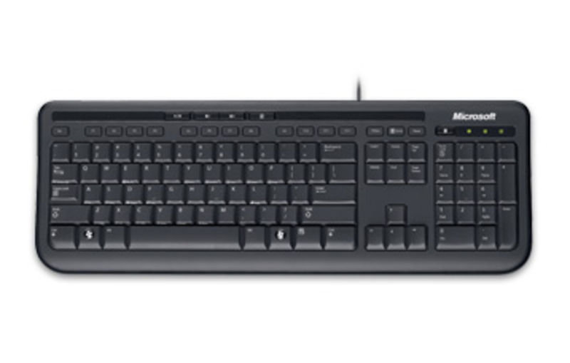 Microsoft Wired Desktop 600 USB Keyboard and Optical Mouse