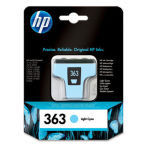 HP 363 Light Cyan Original Ink Cartridge - Standard Yield 220 Photos	- C8774EE