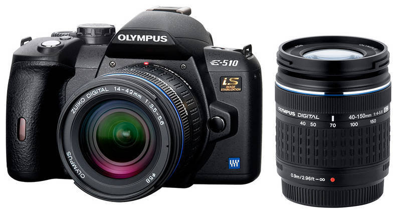 Olympus E510 10mp TWIN Lens Kit includes 40-150 and 14-42mm lens