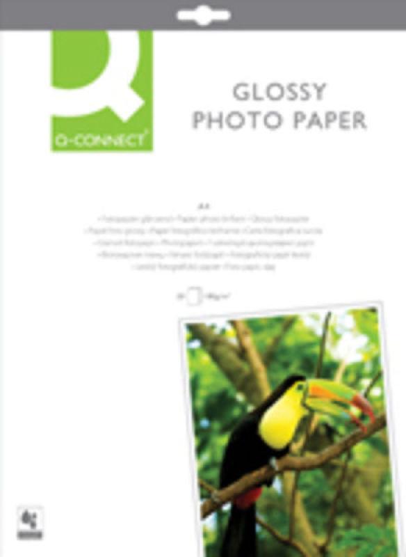 Q-Connect Photo Gloss Paper A4 PK20