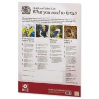 New Health and Safety Law Poster A2