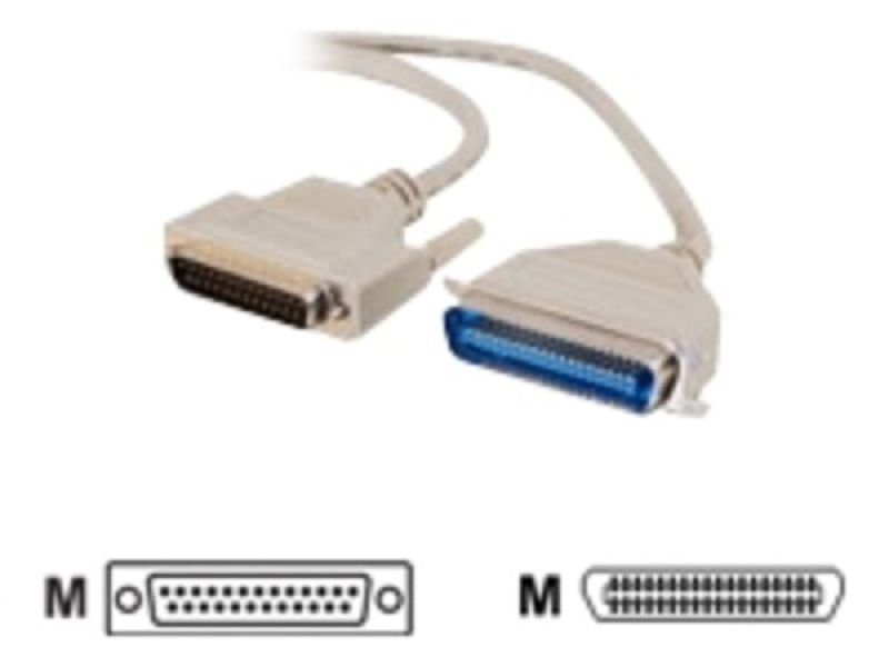 C2G, IEEE-1284 DB25 Male to C36 Male Parallel Printer Cable, 7m