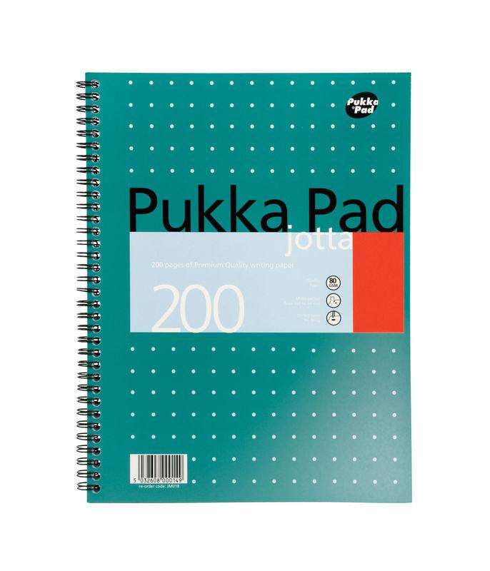 Pukka Pads A4 Jotta Metallic Green - 3 Pack