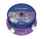 Verbatim 8x DVD+R DL Inkjet Printable Discs - 25 Pack