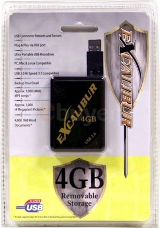 Excalibur 4GB USB2.0 Mini Drive - Retail