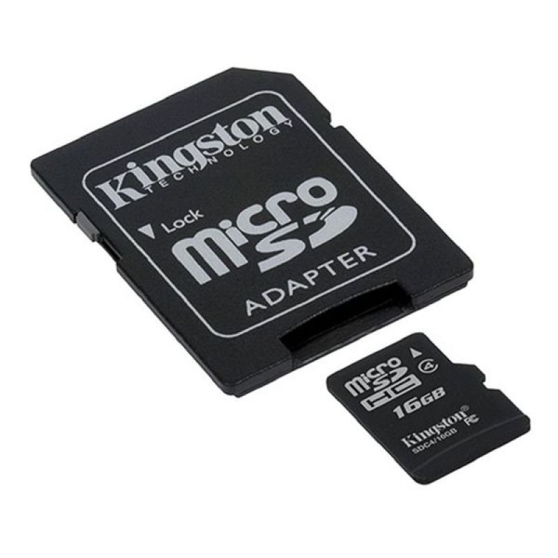 Kingston 16GB Class 4 MicroSDHC Card - With Adapter