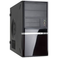 Inwin Z638 Black Micro ATX Case - No PSU